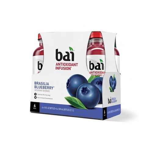 Bai Brasilia Blueberry - 6pk/18 fl oz Bottles - image 1 of 4