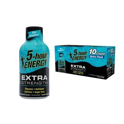 5 Hour Energy Extra Strength Energy Shot - Blue Raspberry - 10pk