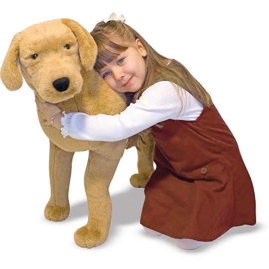 Melissa & Doug Giant Yellow Labrador - Lifelike Stuffed Animal Dog (nearly 2 feet tall) image number null
