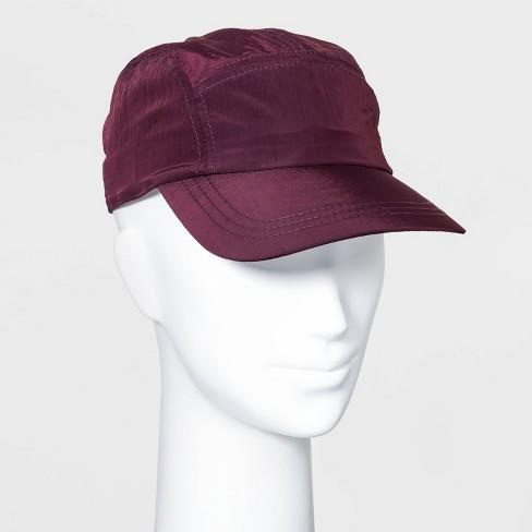 Women's Nylon Baseball Hat - Wild Fable™ Burgundy - image 1 of 2