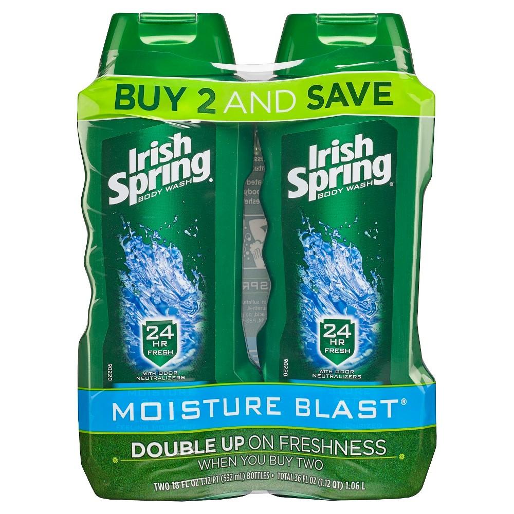 Image of Irish Spring Moisture Blast Moisturizing Body Wash - 18 fl oz/2pk