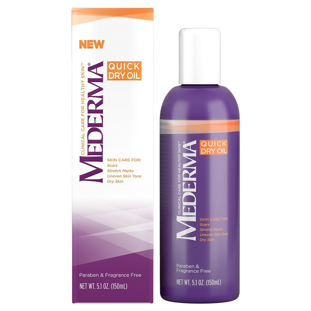 Image of Unscented Mederma Quick Dry Oil - 5.1oz