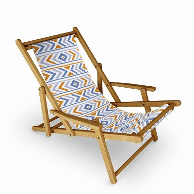 Avenie Boho Horizon Sling Chair - Blue - Deny Designs