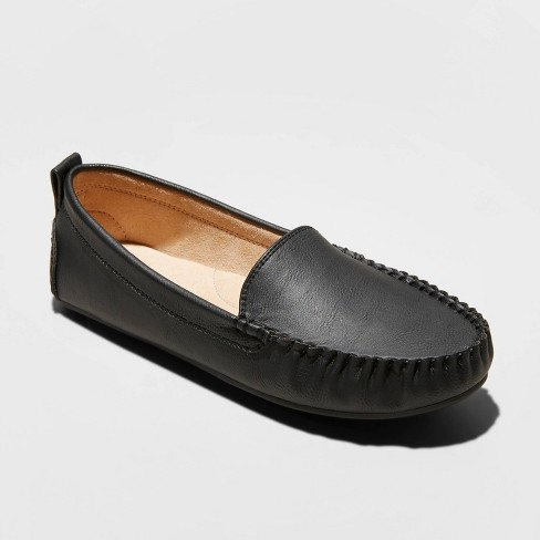Women's Kirby Faux Leather Moccasin Flat Loafers - Universal Thread™ - image 1 of 3