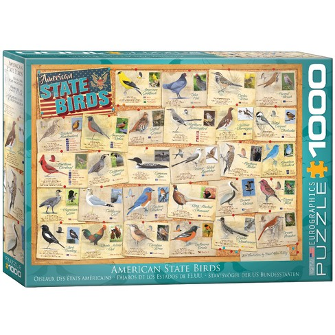 American State Birds 1000pc Puzzle - image 1 of 1