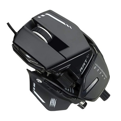Mad Catz The Authentic R.A.T. 8+ Optical Gaming Mouse, Black ( MR05DCAMBL00 )