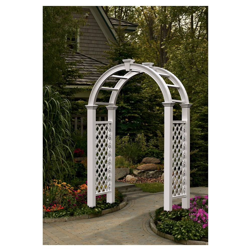 Image of 94 Nantucket Legacy Arbor - New England Arbors, White