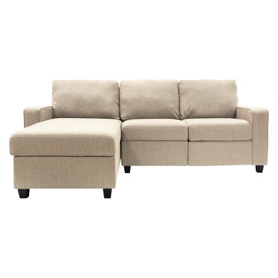 Palisades Reclining Sectional With Left Storage Chaise   Serta : Target