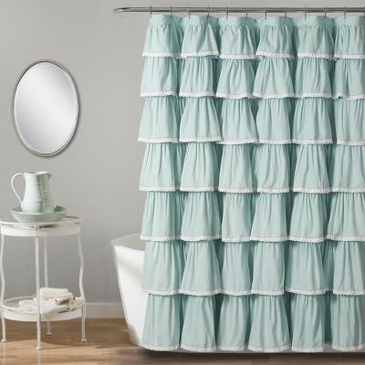 """72""""x72"""" Ruffle Shower Curtain - Lush Décor"""