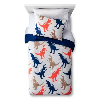 2pc Twin Jurassic Jams Comforter Set Tan - Pillowfort™