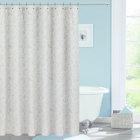 Soft Printed Shower Curtain Classic Gray
