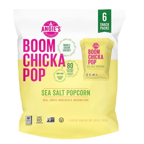 Angie's Boomchickapop Sea Salt Popcorn - 0.6oz 6ct - image 1 of 6