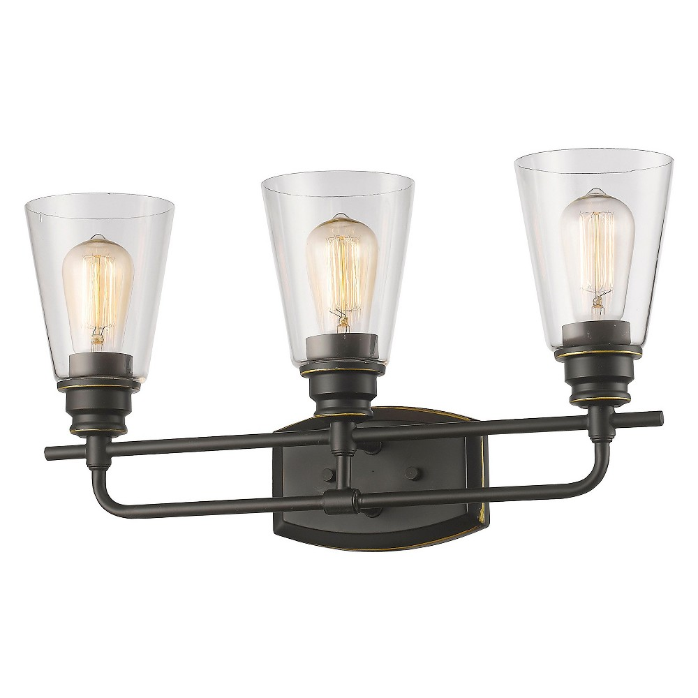 Vanity Wall Lights with Clear Glass (Set of 3) - Z-Lite