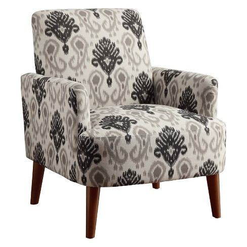 Track Arm Fabric Accent Chair