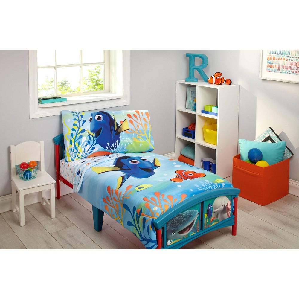 Image of Finding Dory 4pc Toddler Bedding Set