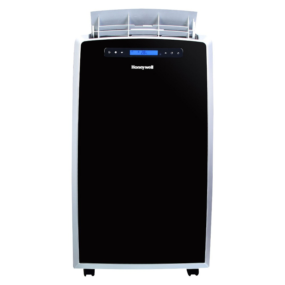 Honeywell - 14000-Btu Portable Air Conditioner with Heat Pump - Black/Silver