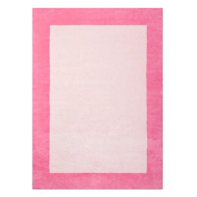 4'x5'5  Border Rug Pink - Pillowfort™