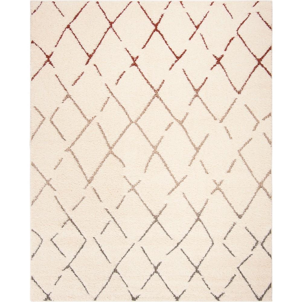 8'X10' Geometric Loomed Area Rug Cream - Safavieh, Beige