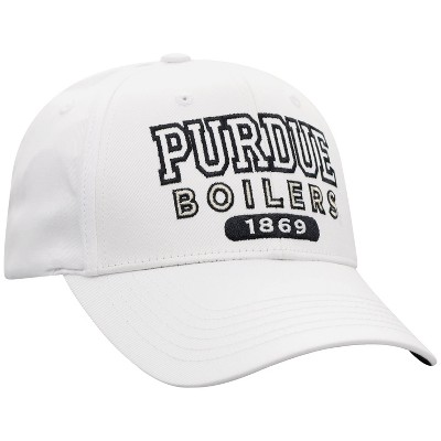 NCAA Purdue Boilermakers Men's White Twill Structured Snapback Hat