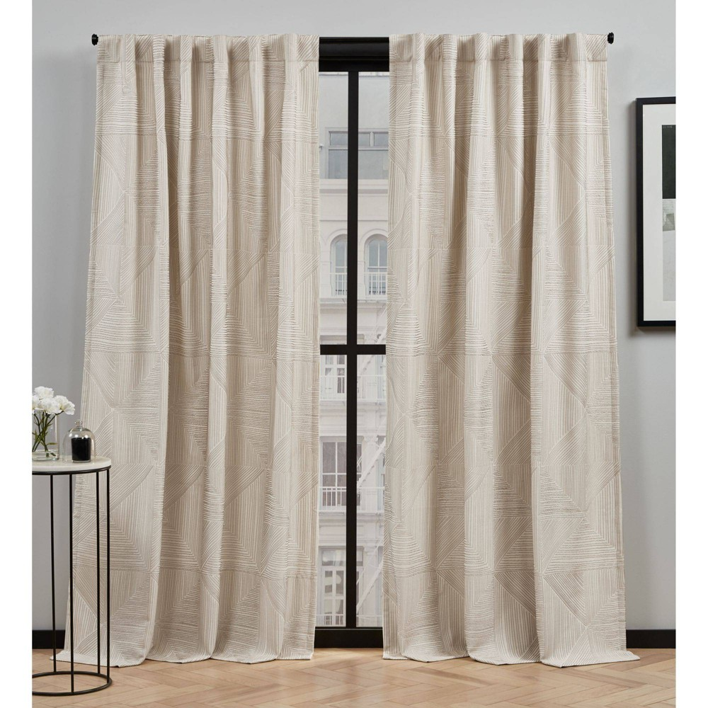 96 34 X54 34 Cardi Light Filtering Curtain Panel Brown Elle D 233 Cor