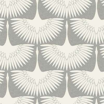 Tempaper Feather Flock Chalk Self-Adhesive Removable Wallpaper