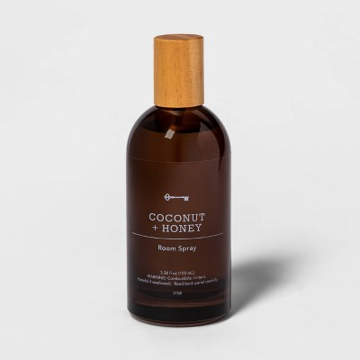 3.38 fl oz Amber Glass Coconut and Honey Room Spray - Threshold™