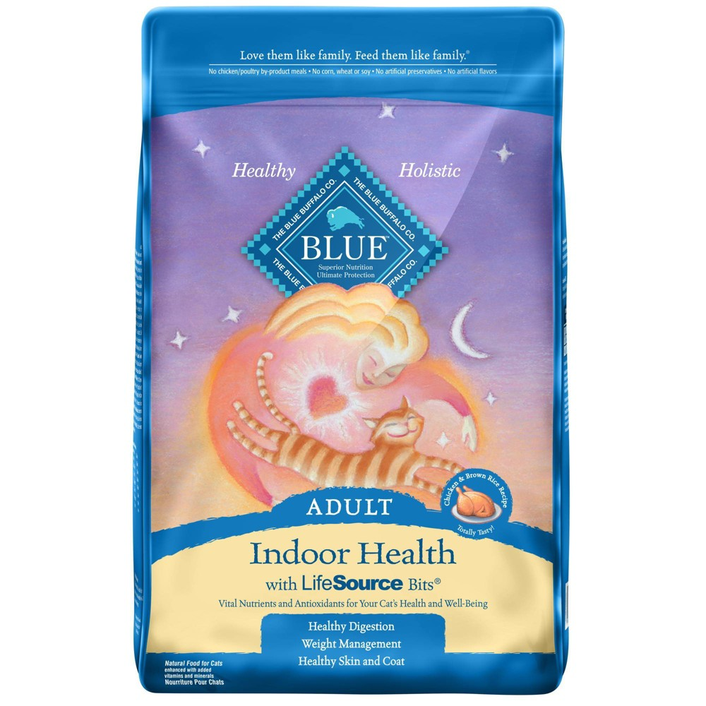 Blue Buffalo Indoor Health With Chicken And Brown Rice Adult Premium Dry Cat Food 15lbs