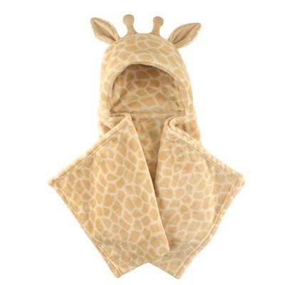 Hudson Baby Unisex Baby and Toddler Hooded Animal Face Plush Blanket - Giraffe One Size