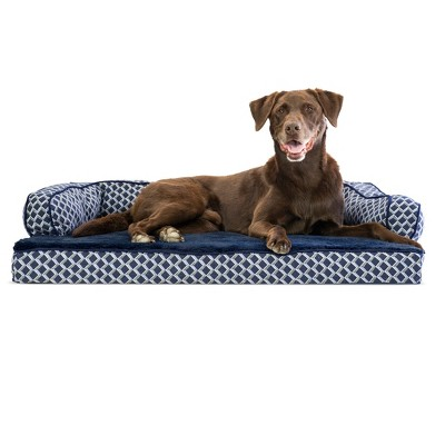 FurHaven Plush & Decor Comfy Couch Orthopedic Sofa-Style Dog Bed