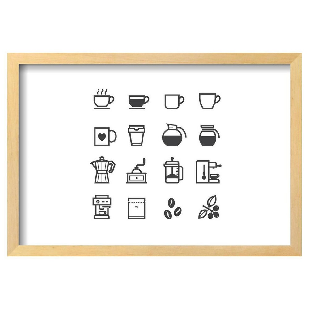 Coffee Icons By Pking4Th Framed Poster 19