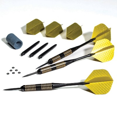 Franklin Sports 25 Gram Steel Tip Dart Set - Gold