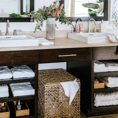 White Spa Vanity Bathroom Collection Styled by Camille Styles