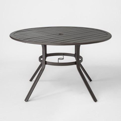 Marrion 48 Round Metal Patio Dining Table Threshold