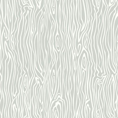 Roommates Wood Grain Peel Stick Wallpaper Gray Target