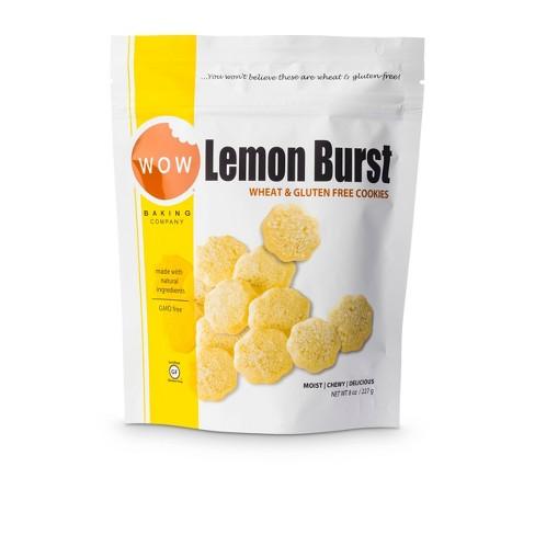 Wow Lemon Burst Wheat & Gluten Free Cookies - 8oz - WOW Baking Company - image 1 of 4