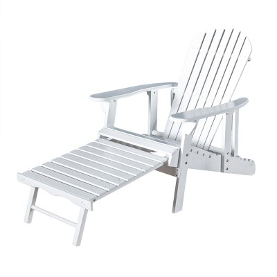 Hayle Reclining Wood Adirondack Chair With Footrest - Christopher Knight Home