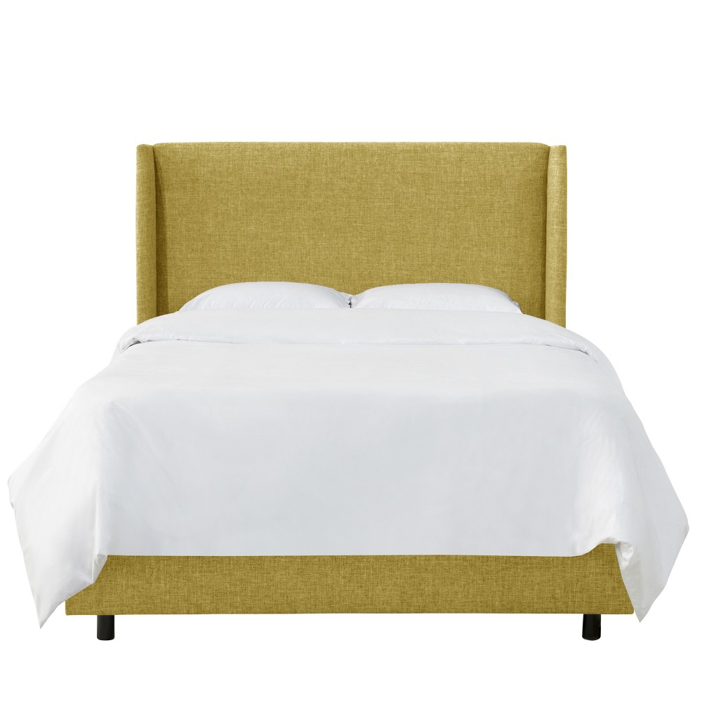 King Antwerp Wingback Bed Golden Yellow Linen - Project 62