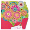 Papyrus Floral Diecut Bouquet Greeting Card - image 4 of 4