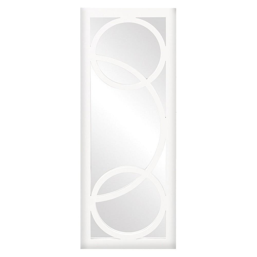 Rectangle Dynasty Decorative Wall Mirror White - Howard Elliott