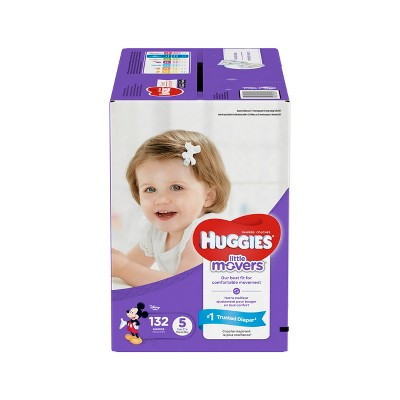 Huggies Little Movers Diapers - Size 5 (132ct)