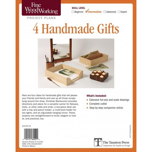 Fine Woodworking Project Plans 4 Handmade Gifts Target
