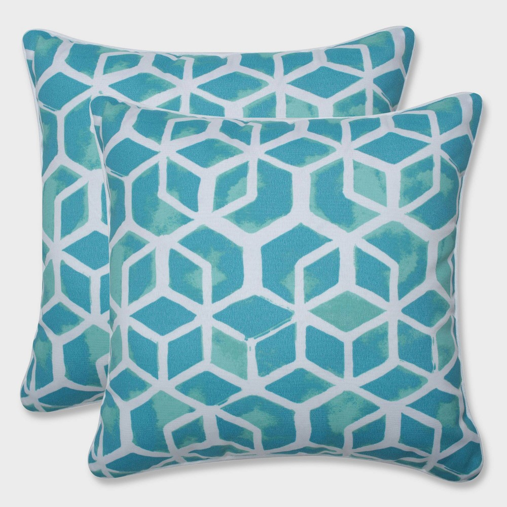 16.5 2pk Celtic Surfside Throw Pillows Blue - Pillow Perfect