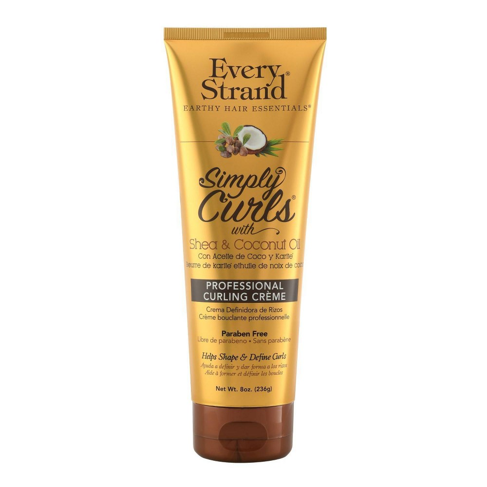 Image of Every Strand Curling Creme Simply Curls Coconut Oil & Shea Butter - 8oz