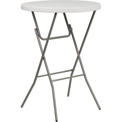 Riverstone Furniture Collection Plastic Fold Bar Table Granite White