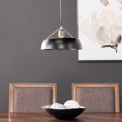 "7"" Renee Pendant Lamp Black - Aiden Lane"