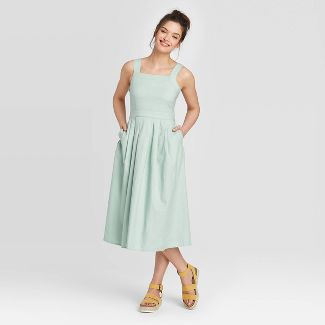 Women's Pleated Sleeveless Dress - Universal Thread™ Mint 2