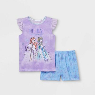 Girls' Frozen Believe In Yourself 2pc Pajama Set - Purple