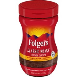 Folgers Classic Medium Roast Instant Coffee - 8oz