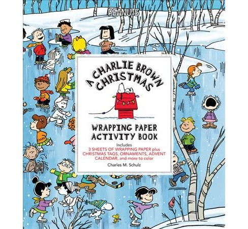 Charlie Brown Christmas Wrapping Paper Activity Book (Accessory) (Charles M. Schulz) - image 1 of 1