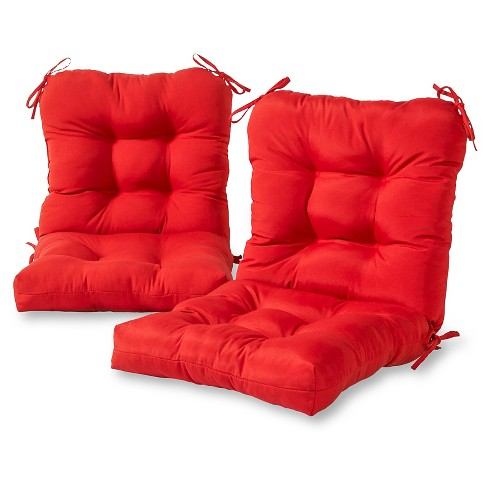 Set of 2 Solid Outdoor Seat/Back Chair Cushions Salsa - Kensington Garden - image 1 of 3